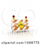 Clipart 3d Under Construction Sign And Barrier Royalty Free CGI Illustration