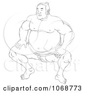 Clipart Sketched Sumo Wrestler 3 Royalty Free Illustration by patrimonio