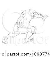 Clipart Sketched Sumo Wrestler 1 Royalty Free Illustration by patrimonio