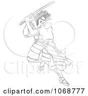 Sketched Samurai Warrior Fighting 2