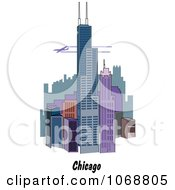 Clipart Chicago Illinois City Scene Royalty Free Vector Illustration by Andy Nortnik
