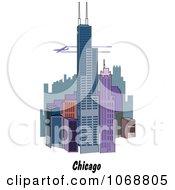 Clipart Chicago Illinois City Scene Royalty Free Vector Illustration