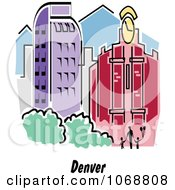 Clipart Denver Colorado City Scene Royalty Free Vector Illustration by Andy Nortnik