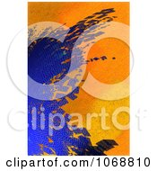Abstract Blue And Orange Textured Background
