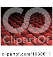 Clipart Red Background Pattern Of 3d Squares Royalty Free CGI Illustration