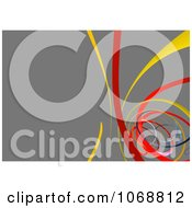 Clipart Gray Background With Colorful Swooshes Royalty Free CGI Illustration