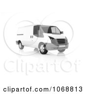 Clipart 3d White And Gray Van Royalty Free CGI Illustration by chrisroll