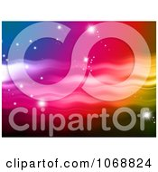 Clipart Colorful Background With Shining Stars Royalty Free Illustration