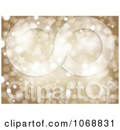 Clipart Golden Sparkle Background Royalty Free Vector Illustration