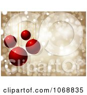 Clipart Golden Sparkle And Red Ornament Background Royalty Free Vector Illustration