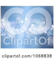 Clipart Blue Sparkly Background Royalty Free Illustration
