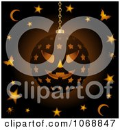 Clipart 3d Hanging Halloween Candle Lantern Royalty Free Vector Illustration