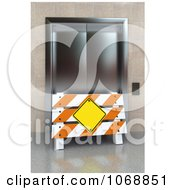 Clipart 3d Barrier Sign And Broken Elevator Royalty Free CGI Illustration by stockillustrations