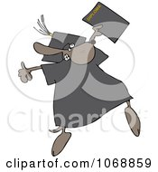 Clipart Graduate Dog With A Diploma Royalty Free Vector Illustration