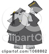 Clipart Graduate Elephant With A Diploma Royalty Free Vector Illustration
