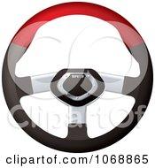 Clipart 3d Sports Car Steering Wheel Royalty Free Vector Illustration