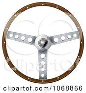 3d Vintage Steering Wheel