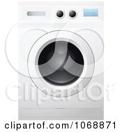 Clipart 3d Front Loader Washing Machine Or Dryer Royalty Free Vector Illustration