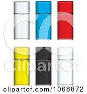 Clipart 3d Colorful Refrigerators Royalty Free Vector Illustration by michaeltravers