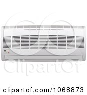 Clipart 3d Ductless Wall Air Conditioner Unit Royalty Free Vector Illustration