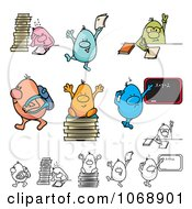 Clipart Roundy School Students Royalty Free Vector Illustration by MilsiArt