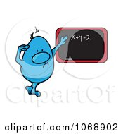 Clipart Roundy Guy Pondering Over Algebra Royalty Free Vector Illustration by MilsiArt
