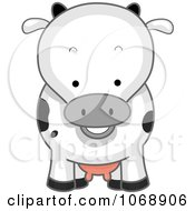 Clipart Cute Cow From The Front Royalty Free Vector Illustration by BNP Design Studio