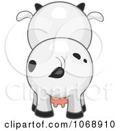 Clipart Cute Cow From Behind Royalty Free Vector Illustration