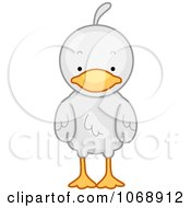 Clipart Cute Duck From The Front Royalty Free Vector Illustration by BNP Design Studio