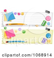 Clipart School Items Website Banners Royalty Free Vector Illustration
