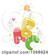 Clipart ABC With Springs And Confetti Royalty Free Vector Illustration