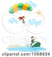 Stick People Parasailing