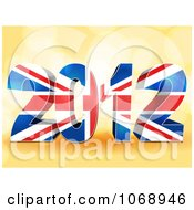 Clipart 3d Union Jack 2012 Flag Royalty Free Vector Illustration by elaineitalia