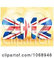 Clipart 3d Union Jack 2012 Flag Royalty Free Vector Illustration by elaineitalia