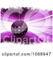 Clipart 3d Purple Star Christmas Bauble With Snowflakes Royalty Free Vector Illustration