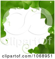 Clipart Green Vine Border Frame Royalty Free Vector Illustration by elaineitalia