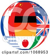 Clipart 3d World Flag Sphere Royalty Free Vector Illustration by elaineitalia