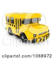 Clipart 3d School Bus Royalty Free CGI Illustration