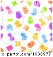 Clipart 3d Background Of Numbers Royalty Free CGI Illustration