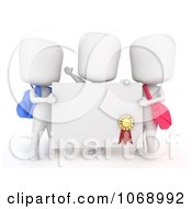 Clipart 3d Ivory School Kids Holding A Certificate Royalty Free CGI Illustration