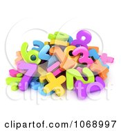 Clipart 3d Pile Of Numbers Royalty Free CGI Illustration