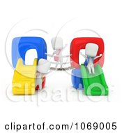Clipart 3d Ivory School Kids On A Playground Royalty Free CGI Illustration