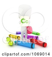 Clipart 3d Ivory School Kid Holding A C Card Royalty Free CGI Illustration