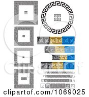 Clipart Greek Key Frames And Borders Royalty Free Vector Illustration by Any Vector #COLLC1069025-0165