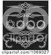 Clipart Black And White Tribal Thorn Borders Royalty Free Vector Illustration by Any Vector