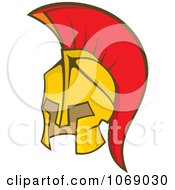 Clipart Greek Spartan Soldier Helmet Royalty Free Vector Illustration by Any Vector