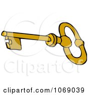 Clipart Gold Skeleton Key Royalty Free Vector Illustration by djart