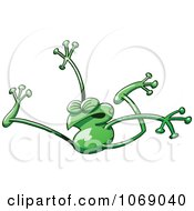 Clipart Goofy Green Froggy 15 Royalty Free Vector Illustration