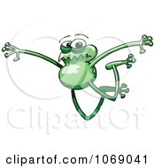 Clipart Goofy Green Froggy 14 Royalty Free Vector Illustration