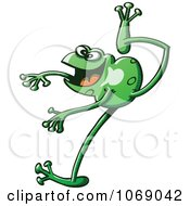Clipart Goofy Green Froggy 2 Royalty Free Vector Illustration